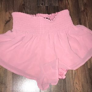 Stretchy waist band chiffon shorts